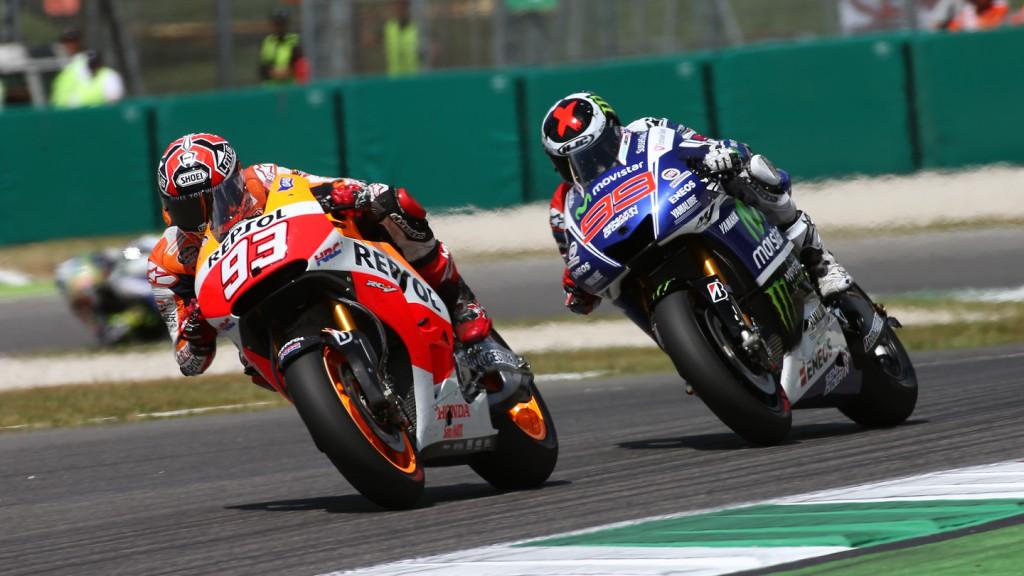 Marc Marquez, Jorge Lorenzo, Repsol Honda Team, Movistar Yamaha MotoGP, ITA RACE
