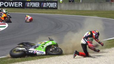Mugello 2014 - MotoGP - RACE - Action - Stefan Bradl and Cal Crutchlow - Crash
