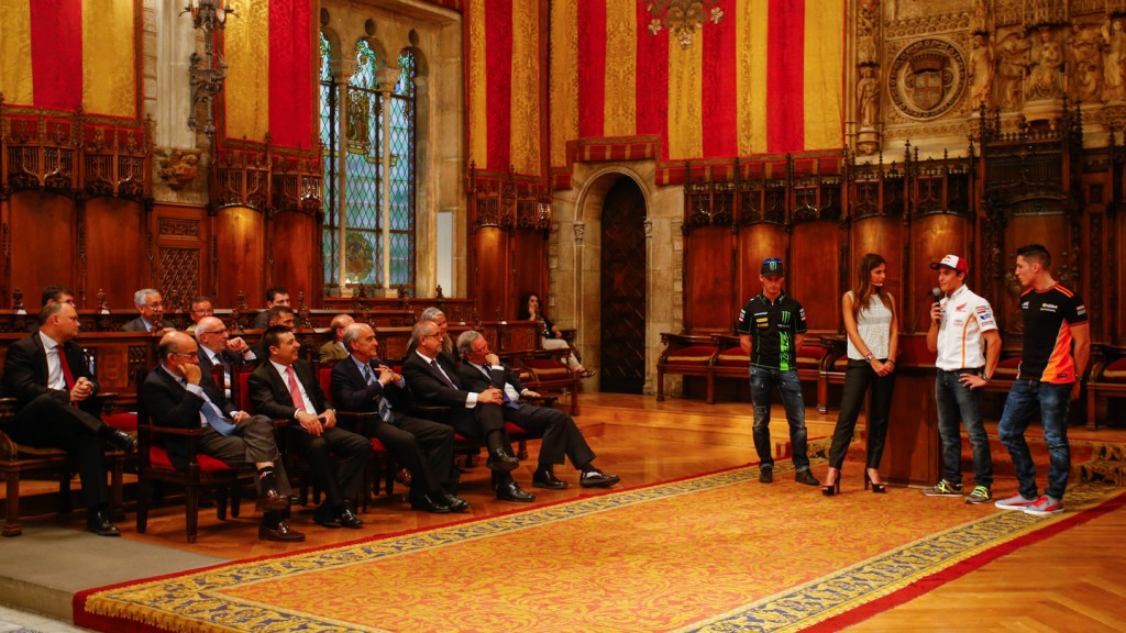 Gran Premi Monster Energy de Catalunya presentation at Barcelona City Hall