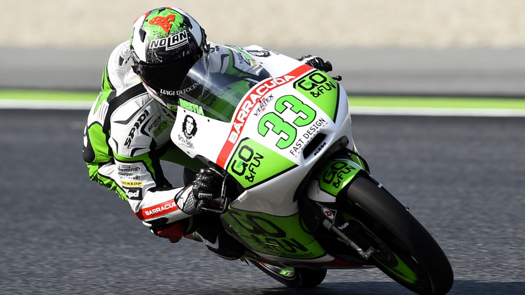 Enea Bastianini, Junior Team GO&FUN Moto3, CAT QP