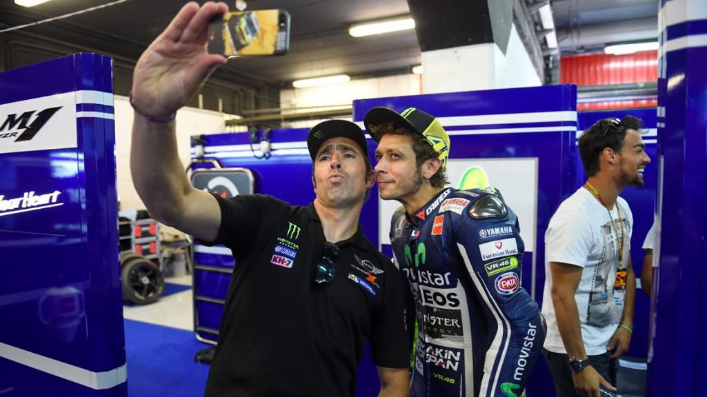 Nani Roma & Valentino Rossi, Movistar Yamaha MotoGP, CAT Q2 © Copyright Milagro