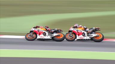 Catalunya 2014 - MotoGP - RACE - Action - Marc Marquez - Dani Pedrosa - Action