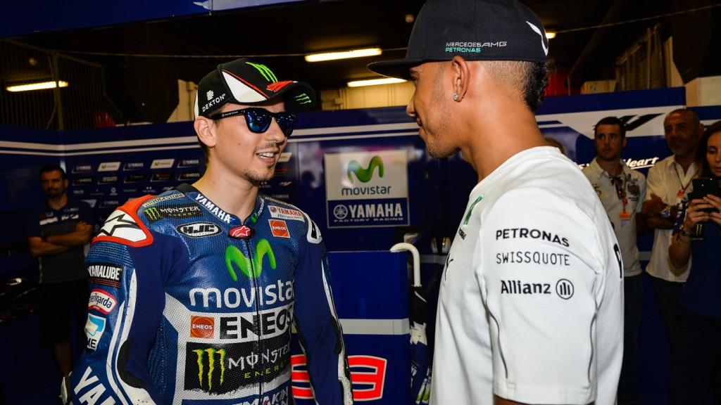 Lewis Hamilton & Jorge Lorenzo, Movistar Yamaha MotoGP, CAT RACE