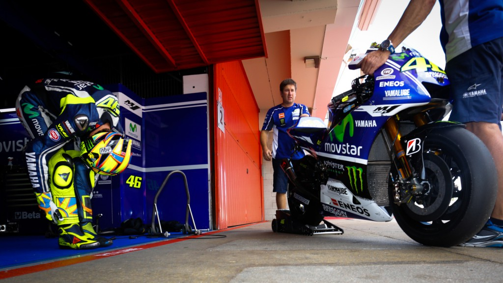 Valentino Rossi, Movistar Yamaha MotoGP, CAT Test