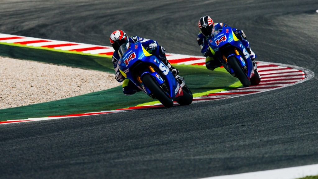 Randy De Puniet, Takuya Tsuda, Suzuki MotoGP Test Team, CAT Test