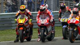 Aleix Espargaro was the quickest rider on track - in record pace - in the second practice run at the Iveco Daily TT Assen for the MotoGP™ class, in front of Marc Marquez and Dani Pedrosa in the top three.