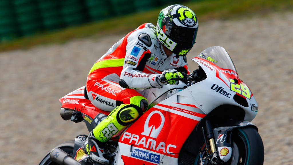 Andrea Iannone, Pramac Racing, NED FP1