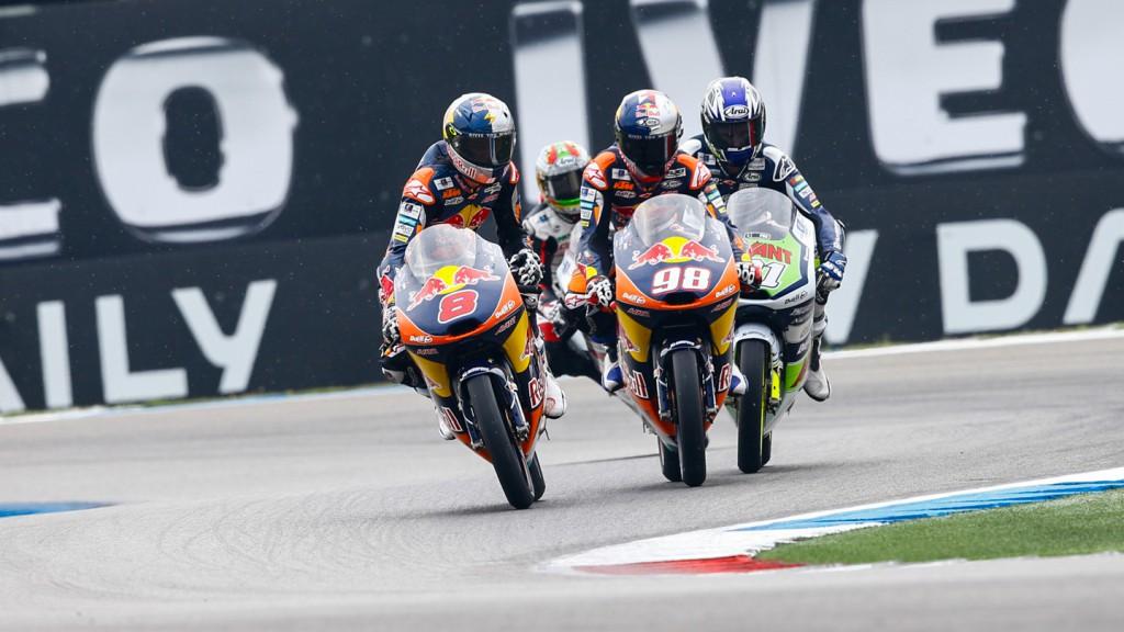 Niklas Ajo, Karel Hanika, Jack Miller, Avant Tecno Husqvarna Ajo, Red Bull KTM Ajo, NED QP
