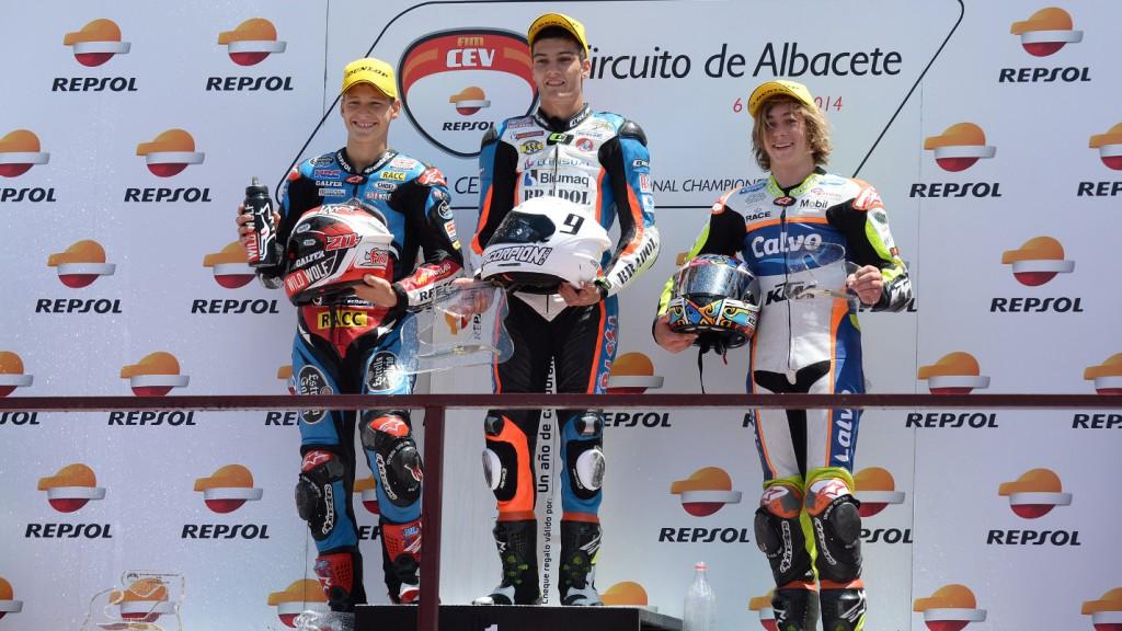 Podio Moto3 FIM CEV Repsol Albacete