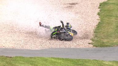 Sachsenring 2014 - MotoGP - FP1 - Action - Bradley Smith - Crash