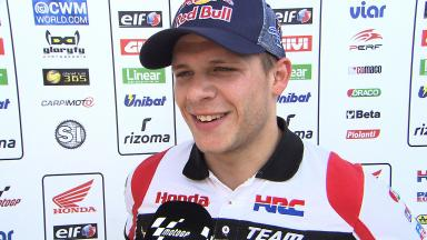 Fourth is ok on day one of home Grand Prix for Bradl