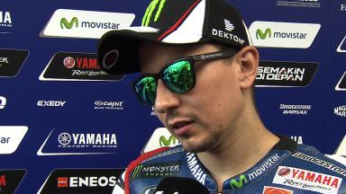 Positive first sessions for Lorenzo at round nine