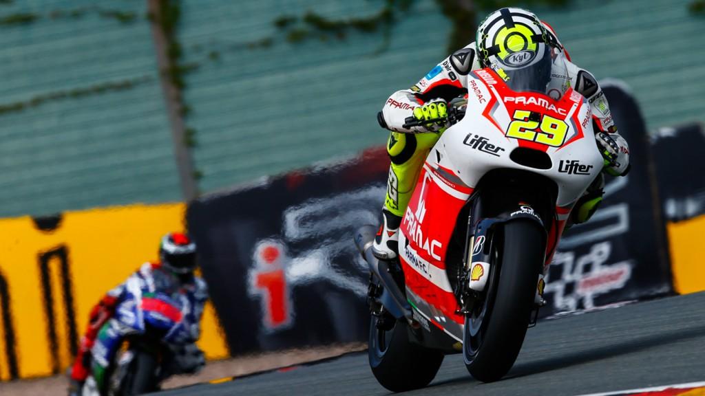 Andrea Iannone, Pramac Racing, GER FP2