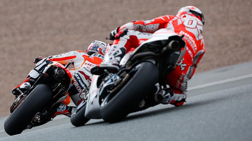Andrea Dovizioso, Dani Pedrosa, Ducati Team, Repsol Honda Team, GER Q2