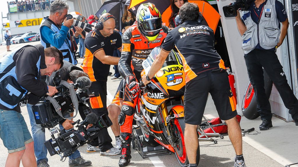 Colin Edwards, NGM Forward Racing, GER Q2
