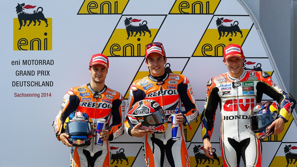 Marc Marquez, Dani Pedrosa, Stefan Bradl, Repsol Honda Team, LCR Honda MotoGP, GER Q2