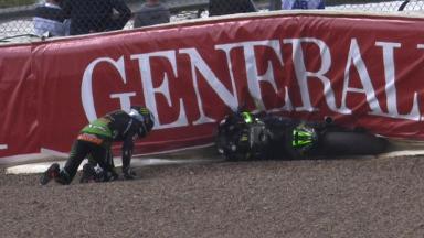 Sachsenring 2014 - MotoGP - FP3 - Action - Bradley Smith - Crash