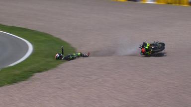 Sachsenring 2014 - MotoGP - Q2 - Action - Bradley Smith - Crash
