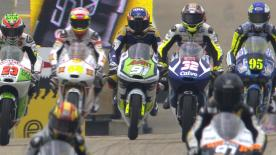 Jack Miller set the fastest lap in Moto3™ qualifying at the eni Motorrad Grand Prix Deutschland before rain affected the end of the session, so he will therefore start at the front of row one ahead of Alexis Masbou and Alex Marquez.