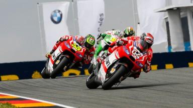 Cal Crutchlow, Andrea Dovizioso, Alvaro Bautista, Ducati Team, GO&FUN Honda Gresini, GER RACE