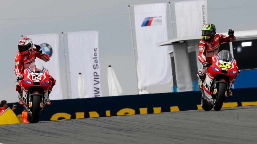Cal Crutchlow, Andrea Dovizioso, Ducati Team, GER RACE