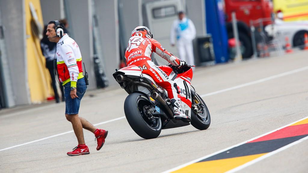Andrea Dovizioso, Ducati Team, GER WUP