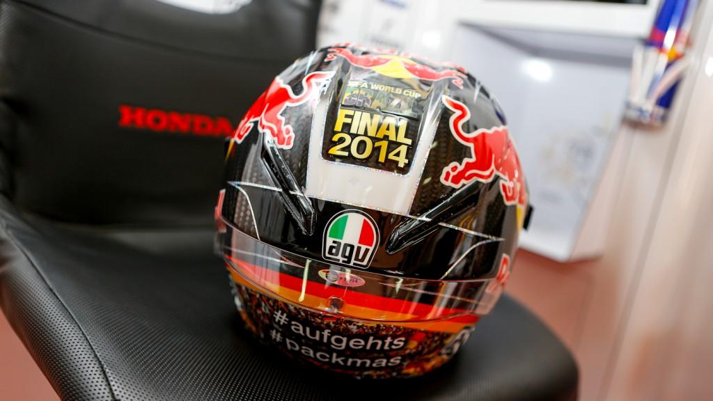 Stefan Bradl's helmet, LCR Honda MotoGP, GER WUP