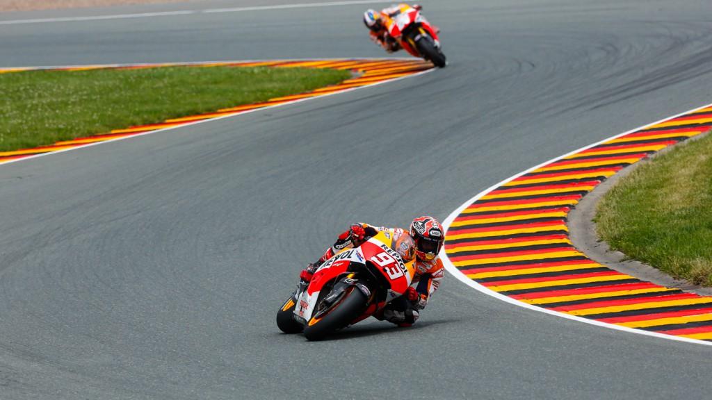 Marc Marquez, Dani Pedrosa, Repsol Honda Team, GER RACE