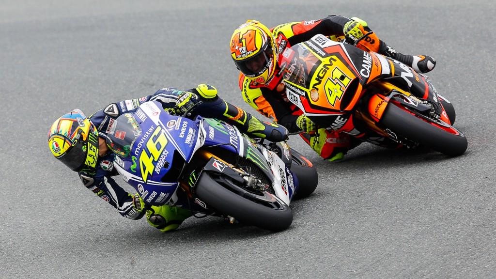 Aleix Espargaro, Valentino Rossi, NGM Forward Racing, Movistar Yamaha MotoGP, GER RACE