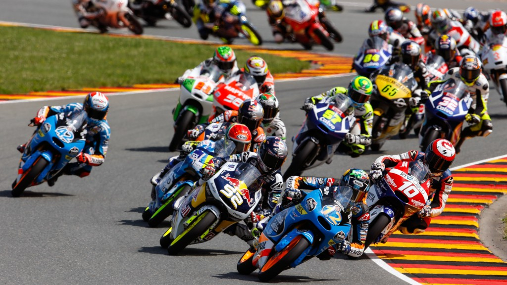 Moto3 Race start, GER RACE