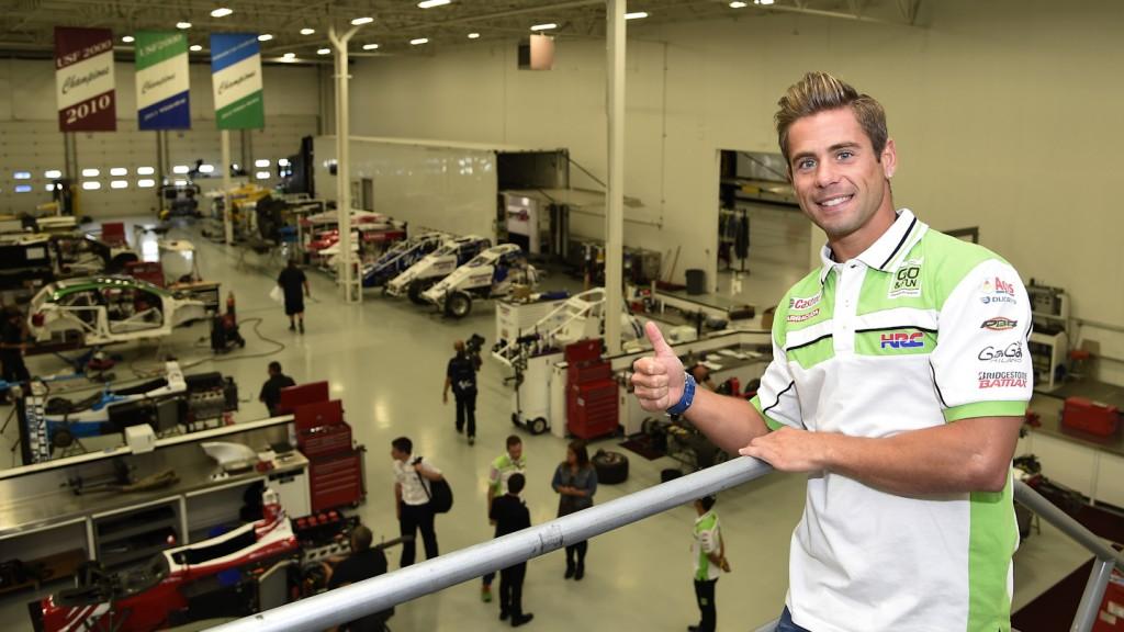Bautista visits Andretti team