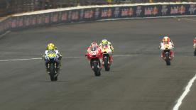 In FP2 for the premier class at the Red Bull Indianapolis Grand Prix, round ten of the 2014 MotoGP™ World Championship, Marc Marquez outpaced the rest of the field, whilst Andrea Iannone and Jorge Lorenzo were also in the top three around the modified IMS track.