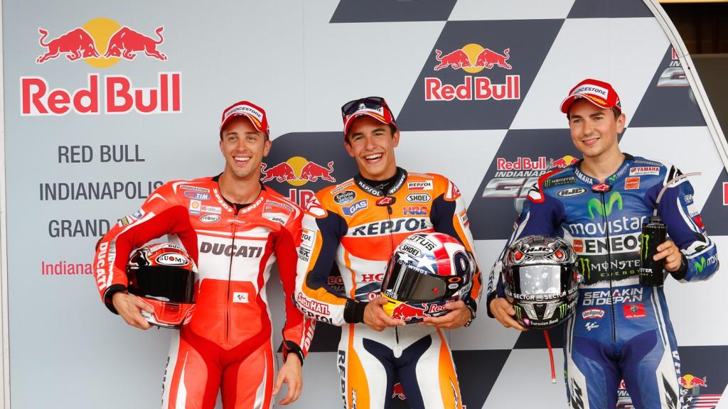 Andrea Dovizioso, Jorge Lorenzo, Marc Marquez, Ducati Team, Movistar Yamaha MotoGP, Repsol Honda Team, INP Q2