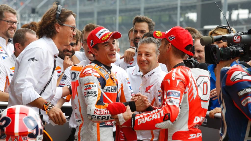 Marc Marquez, Andrea Dovizioso, Repsol Honda Team, Ducati Team, INP Q2