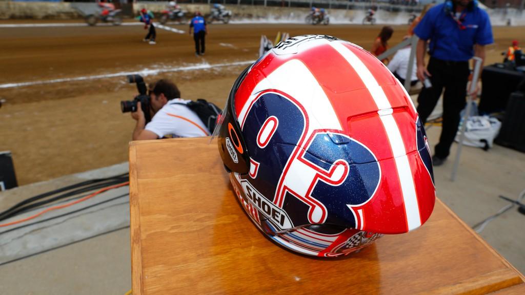 Marquez special helmet, Indy Miles