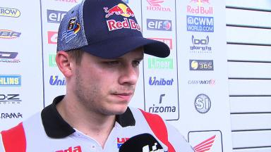 Bradl explains Indianapolis crash with Espargaro