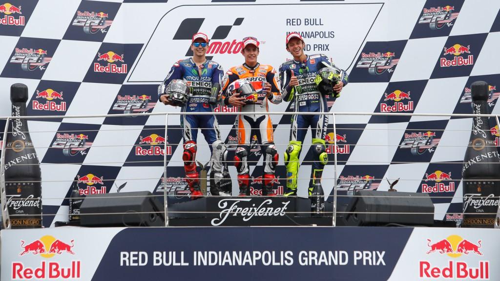Lorenzo, Marquez, Rossi, Movistar Yamaha MotoGP, Repsol Honda Team, INP