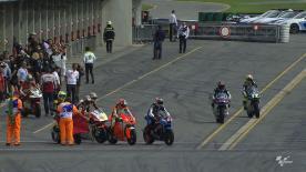 El primer día de trabajo en el Gran Premio bwin de la República Checa ha concluido con el dominio de Tito Rabat en la tabla combinada de tiempos. Mika Kallio y Sandro Cortese se han situado a continuación en el global de las dos sesiones libres del viernes.