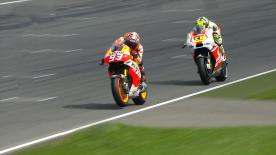Sunday's MotoGP™ race at the bwin Grand Prix České republiky will get underway with Marc Marquez on pole, ahead of Andrea Dovizioso and Andrea Iannone on row one of the grid.