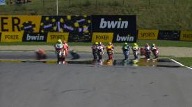 The Moto2™ contest at the 11th round of the World Championship will see the grid led by Tito Rabat, whilst Tom Luthi and Sandro Cortese will also be on the first row.