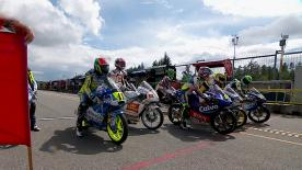 The Moto3™ pole was taken by Alex Marquez at the bwin Grand Prix České republiky, with Isaac Viñales and Niccolo Antonelli also securing front row slots. Intermittent rain and a red flag whilst an air fence was repaired made it a tricky session for the riders.
