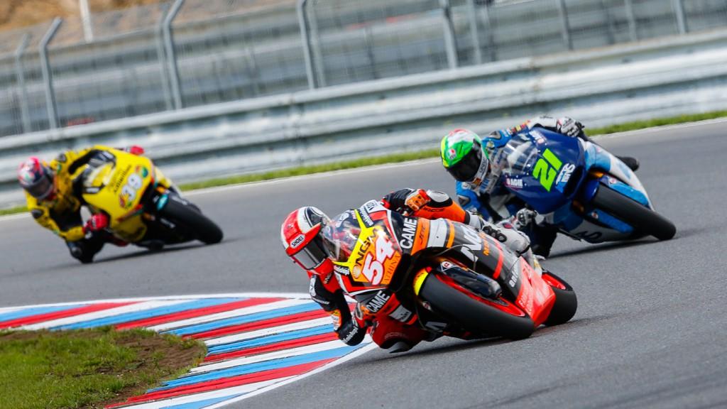 Mattia Pasini, Franco Morbidelli, NGM Forward Racing, Italtrans Racing Team, CZE QP