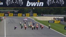 In the Brno MotoGP™ race Dani Pedrosa won for the first time since Malaysia last year as he ended the winning streak of Marc Marquez, with Jorge Lorenzo and Valentino Rossi second and third, whilst Marquez came home just off the podium.