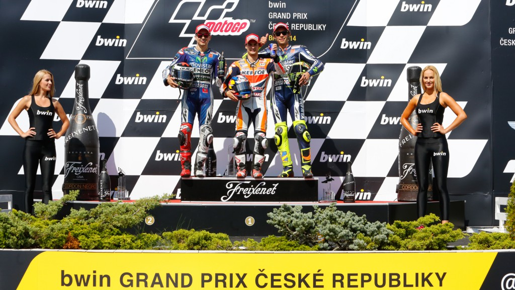 Podium MotoGP, CZE RACE