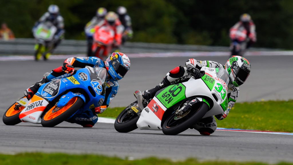 Enea Bastianini, Alex Rins, Junior Team GO&FUN Moto3, Estrella Galicia 0,0, CZE RACE