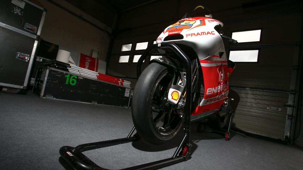 Yonny Hernandez's bike, Pramac Racing, MotoGP Brno Test