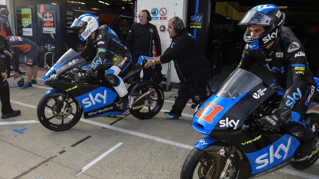 Francesco Bagnaia, Romano Fenati, SKY Racing Team  VR46, GBR FP2