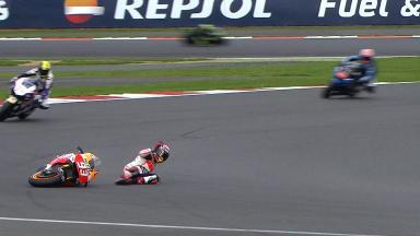 Silverstone 2014 - MotoGP - FP3 - Action - Marc Marquez - Crash