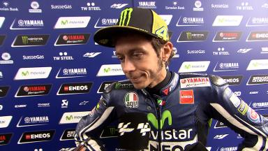Rossi less worried and more satisfied on Saturday
