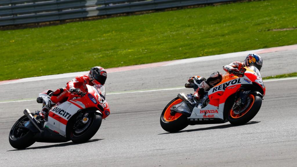 Andrea Dovizioso, Dani Pedrosa, Ducati Team, Repsol Honda Team, GBR RACE